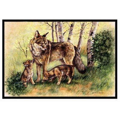 Wolf Wolves Doormat Rug Size: 16 x 23