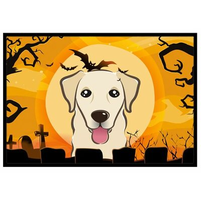 Halloween Golden Retriever Doormat Rug Size: 2 x 3