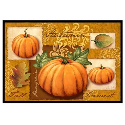 Fall Harvest Pumpkins Doormat Rug Size: 2 x 3