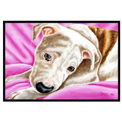Dream Girl Pit Bull Doormat Rug Size: 2 x 3