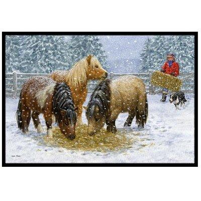 Shetland Ponies Doormat Rug Size: 23 x 16