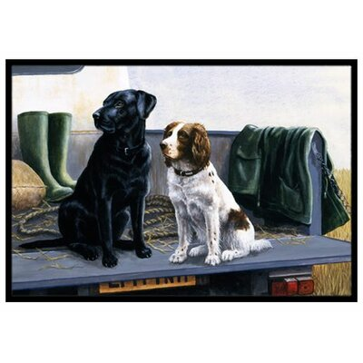 On The Tailgate Labrador and Springer Spaniel Doormat Rug Size: 2 x 3