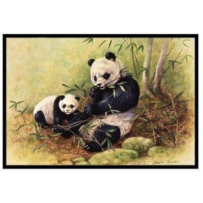 Panda Bears Doormat Mat Size: 2 x 3