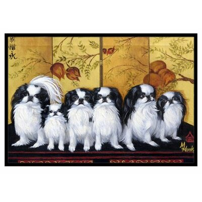 Japanese Chin Tea House Doormat Rug Size: 2' x 3'