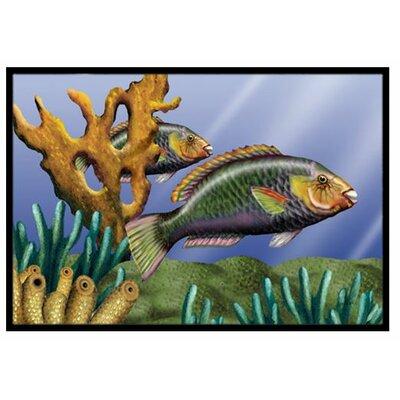 Undersea Fantasy 11 Doormat Rug Size: 1'6