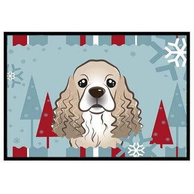 Winter Holiday Cocker Spaniel Doormat Mat Size: 16 x 23