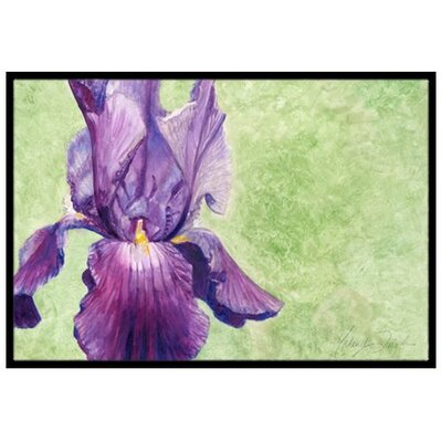 Purple Iris Doormat Rug Size: 2 x 3