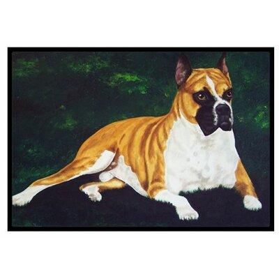 Dempsey Boxer Doormat Rug Size: 2 x 3