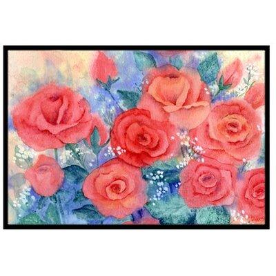 Roses Doormat Rug Size: 2 x 3