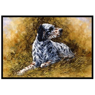 English Setter Doormat Mat Size: 16 x 23