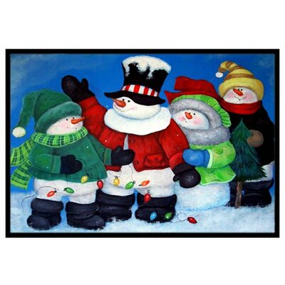 The Light Brigade Snowman Doormat Rug Size: 2 x 3