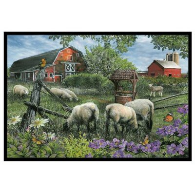 Pleasant Valley Sheep Farm Doormat Rug Size: 16 x 23