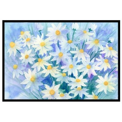 Light and Airy Daisies Doormat Mat Size: 2 x 3