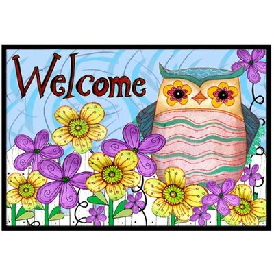 Welcome Owl Doormat Rug Size: 16 x 23
