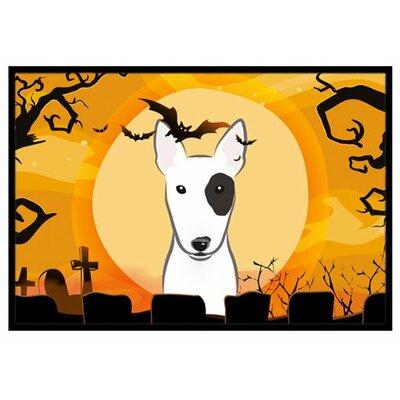 Halloween Bull Terrier Doormat Rug Size: 2 x 3