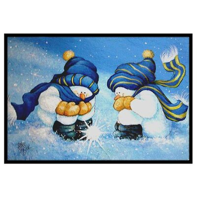 We Believe in Magic Snowman Doormat Rug Size: 2 x 3