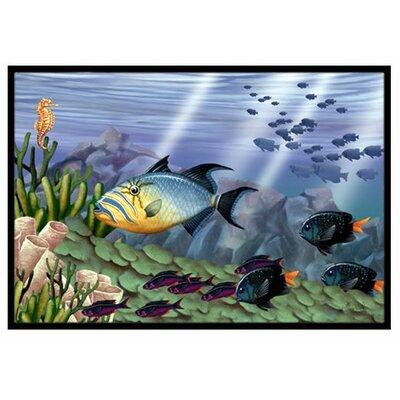 Undersea Fantasy 10 Doormat Mat Size: 2 x 3