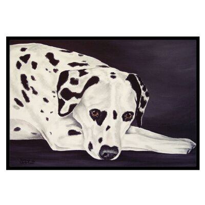 Dal Dalmatian Doormat Rug Size: 16 x 23