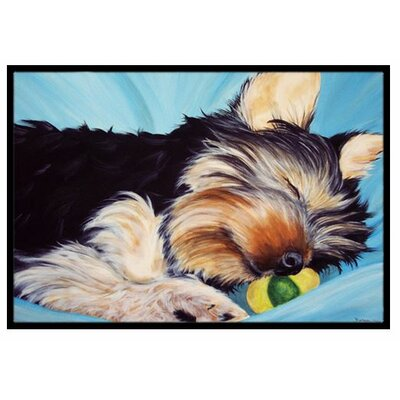 Naptime Yorkie Yorkshire Terrier Doormat Rug Size: 2 x 3