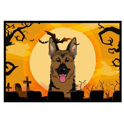 Halloween German Shepherd Doormat Rug Size: 2 x 3