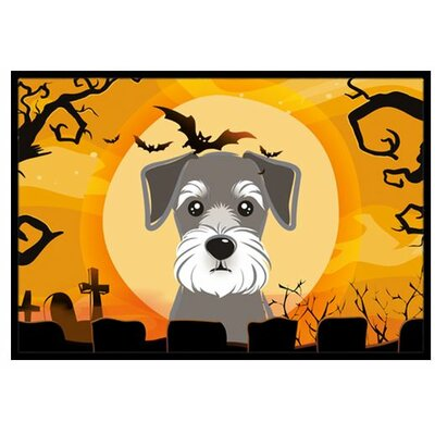 Halloween Schnauzer Doormat Mat Size: Rectangle 2 x 3