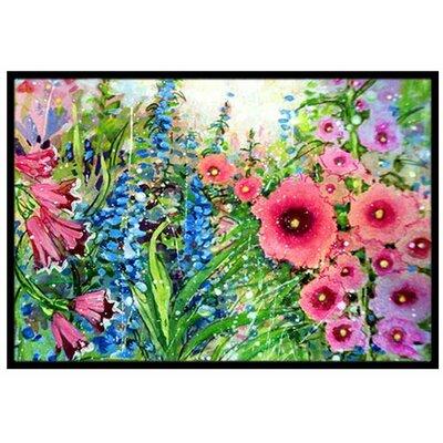 Easter Garden Springtime Flowers Doormat Rug Size: 2 x 3