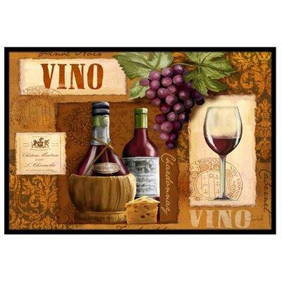 Vino Wine Doormat Rug Size: 2 x 3
