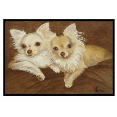 Chihuahua For the Pair Doormat Mat Size: 2 x 3