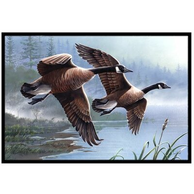 Geese on the Wing Doormat Mat Size: 2 x 3