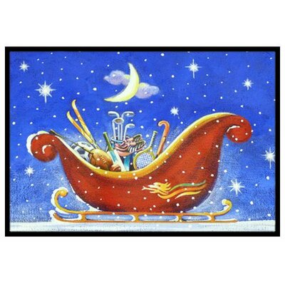 Christmas Santas Sleigh Doormat Mat Size: 2 x 3
