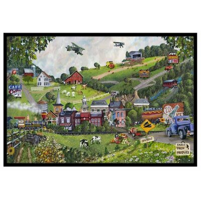 Summer in Small Town USA Doormat Rug Size: 16 x 23