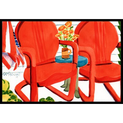 Chairs Patio View Doormat Mat Size: 16 x 23