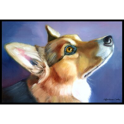 Corgi Devotion Doormat Rug Size: 2 x 3