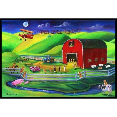 Corgi Barn Dance Doormat Mat Size: 16 x 23