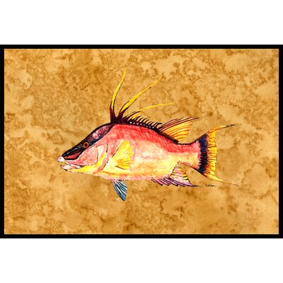 Hog Snapper on Doormat Mat Size: 2 x 3