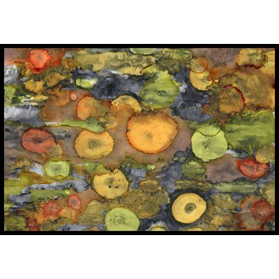 Abstract with Mother Earth Doormat Mat Size: 16 x 23