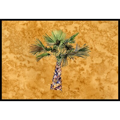 Palm Tree Doormat Mat Size: 2 x 3