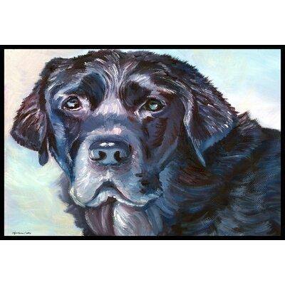 Labrador Face Doormat Rug Size: 2 x 3