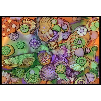 Abstract Doormat Rug Size: 16 x 23