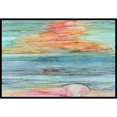 Abstract Rainbow Doormat Mat Size: 16 x 23