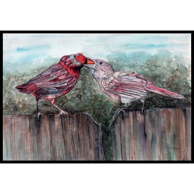Bird Feeding Doormat Rug Size: 16 x 23