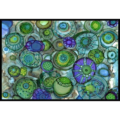 Abstract Doormat Rug Size: 2 x 3