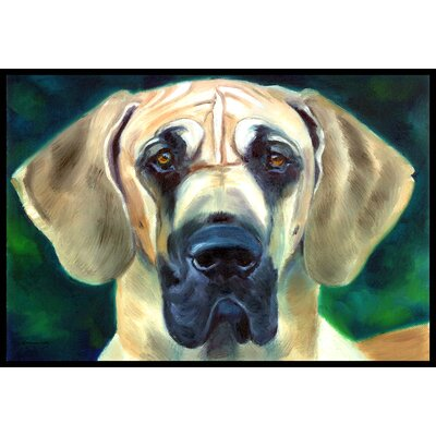 Great Dane Looking at You Doormat Rug Size: 16 x 23