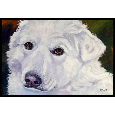 Great Pyrenees Contemplation Doormat Rug Size: 16 x 23