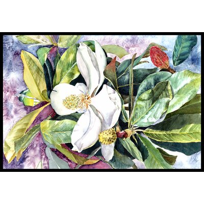 Magnolia Doormat Rug Size: 16 x 23