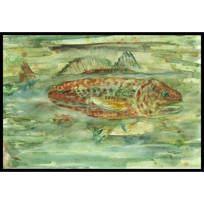 Abstract Fish Doormat Rug Size: 2 x 3