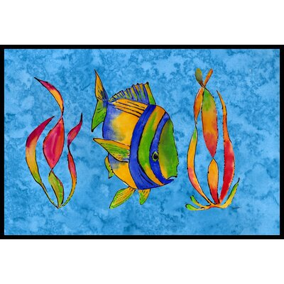 Tropical Fish and Seaweed Doormat Rug Size: 2 x 3