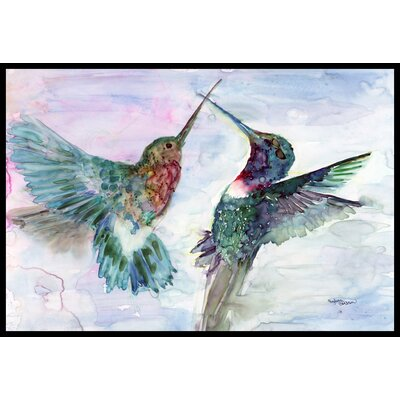Hummingbird Combat Doormat Rug Size: 2 x 3