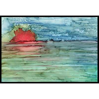 Abstract Sunset on the Water Doormat Rug Size: 16 x 23