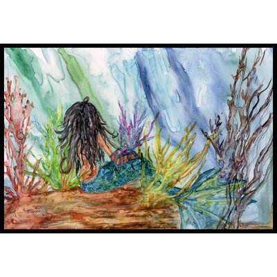Haired Mermaid Water Fantasy Doormat Mat Size: 2 x 3
